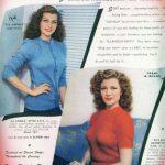 Rita hayworth anunciando suéters
