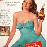 Rita hayworth anunciando Royal Crown