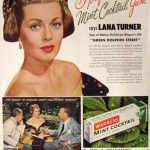 Lana Turner anunciando chicles Warren