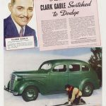 Clark Gable anunciando coches Dodge