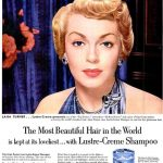 Lana Turner anunciando Lustre-cream