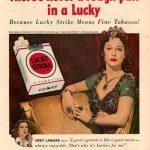 Hedy Lamarr anunciando Lucky Strike