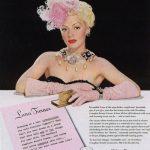 Lana Turner anunciando cremas Woodbury